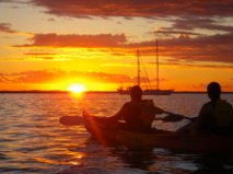 Book kayak tours agnes water 1770 and watch the sunset over Bustard Bay